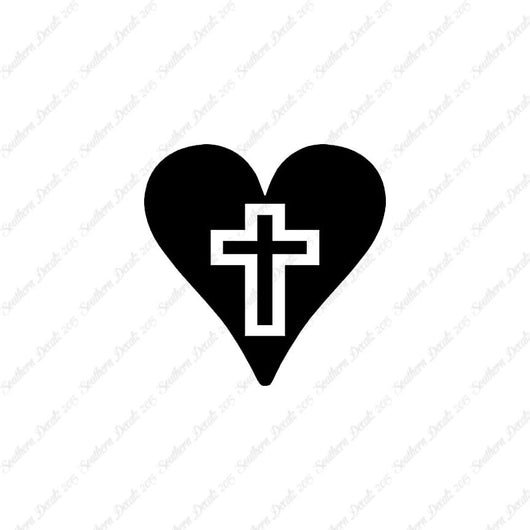 Heart With Middle Cross