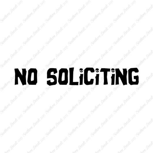 No Soliciting Skulls
