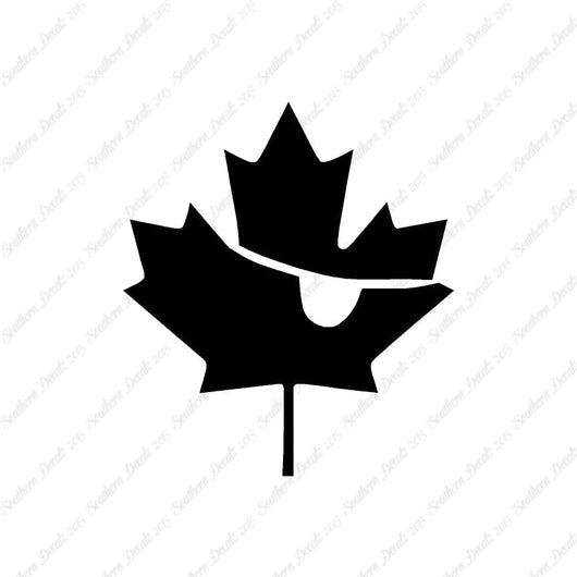 Pirate Canadian Flag Maple Leaf