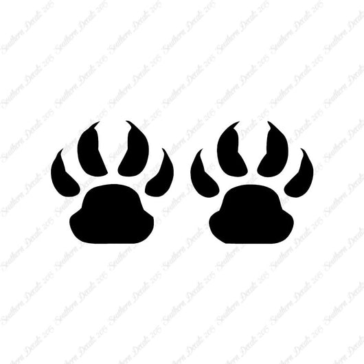 Wolf Dog Paw Prints