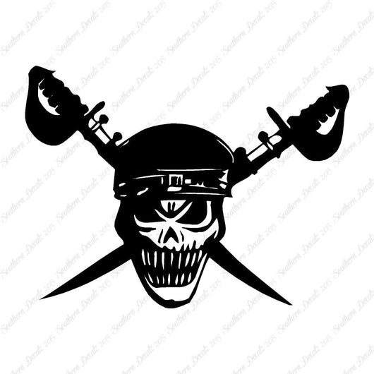 Skull Crossbone Sword Pirate