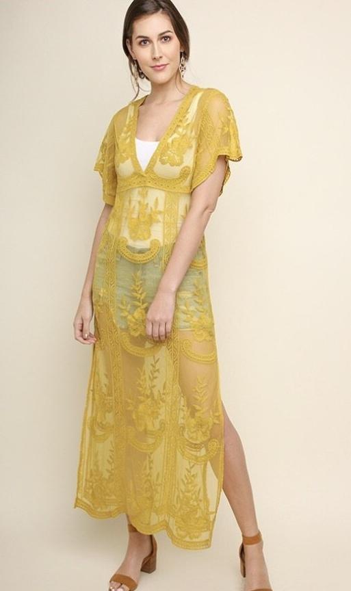 Melody Mango Maxi / sheer