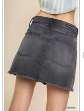 Billie Black Denim Skirt