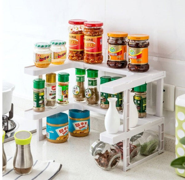 Nice SpaceSave™ Adjustable Spice Rack U0026 Stackable Shelf