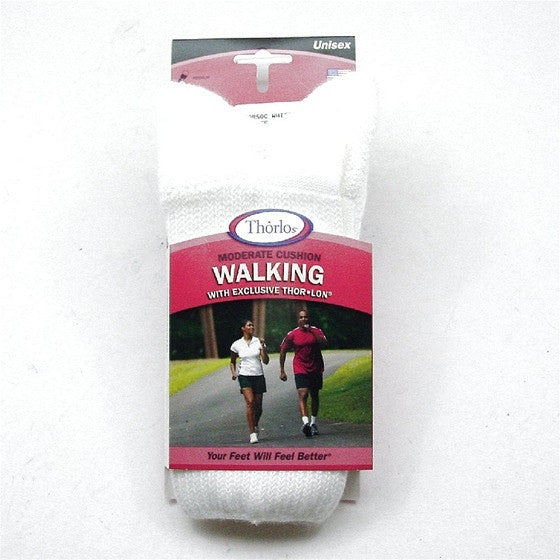 WX 15 WHITE WALKING SOCK THORLO SOCWHITE WX15