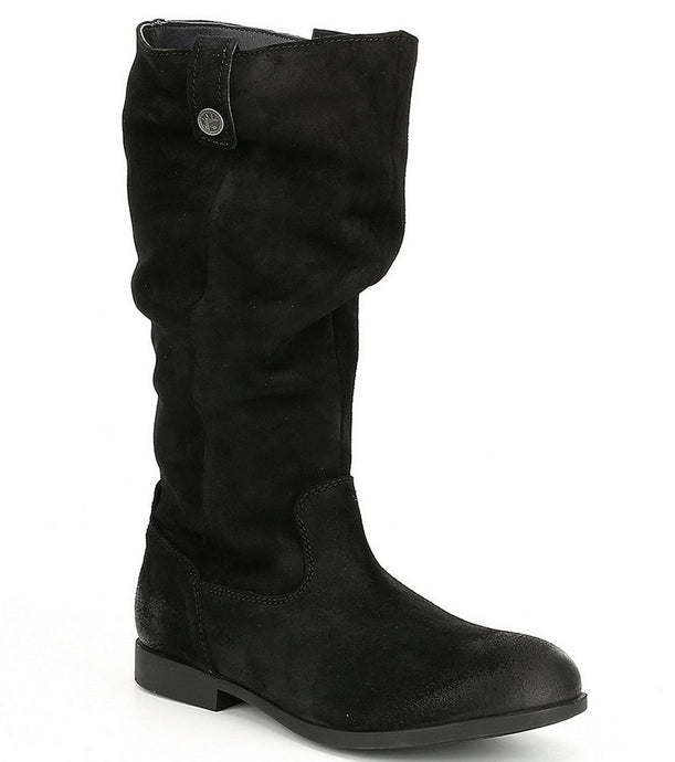 Sarina High Black Suede