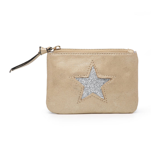 Small Gold Purse With Silver Sequin Star
