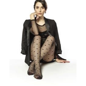 Fish Net and polka Dot Tights By Andrea Bucci