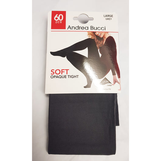 Grey 60 Denier Soft Opaque Tights By Andrea Bucci