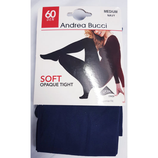 Navy 60 Denier Soft Opaque Tights By Andrea Bucci