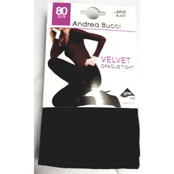 Black 80 Denier Velvet Opaque Tights By Andrea Bucci