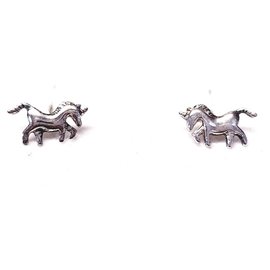 Silver 925 Unicorn Stud Earrings