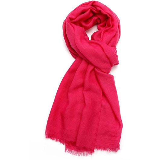 Hot Pink Plain Scarf