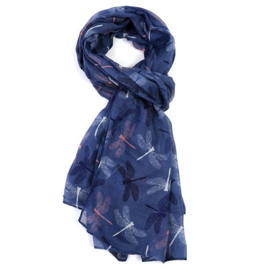 Navy Chic Dragon Fly Scarf