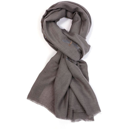 dragon fly grey scarf