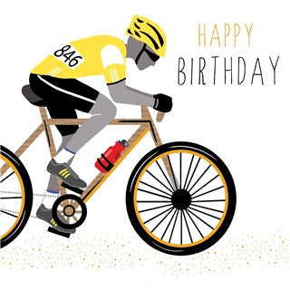 Cyclist Birthday Card By Jaz And Baz