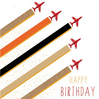 Fly Past Birthday Card By Jaz And Baz