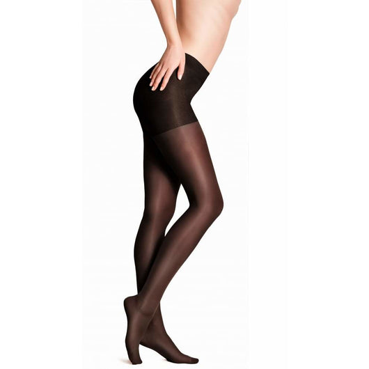 Black Satin Sheen 10 Denier Tights By Andrea Bucci