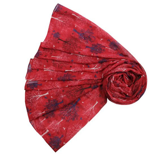 Red Autumn Trees Scarf