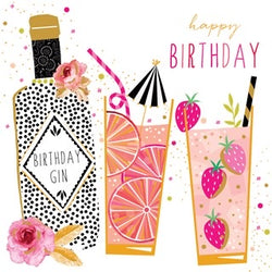 Birthday Gin  Birthday Card