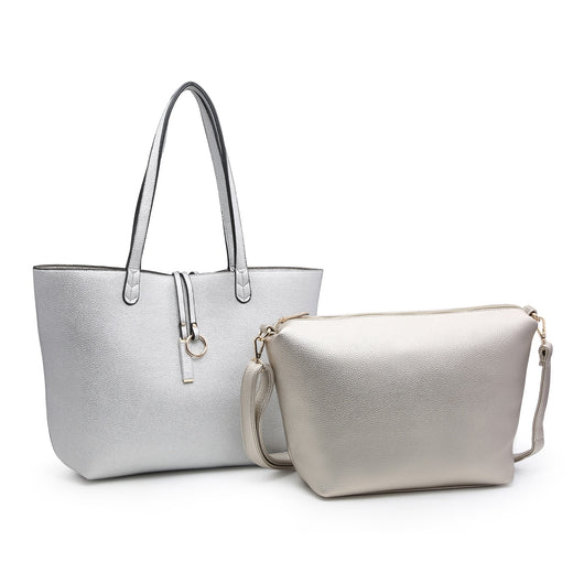 Reversible silver Shoulder Bag