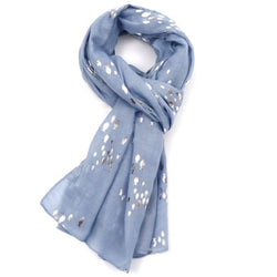 Blue Silver Fish Scarf