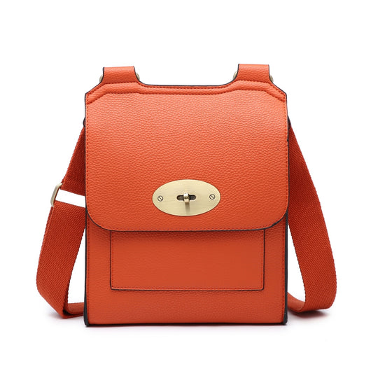 orange  cross body  mullbery style bag