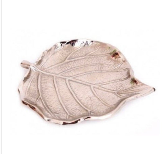 Silver Leaf Shaped Dish