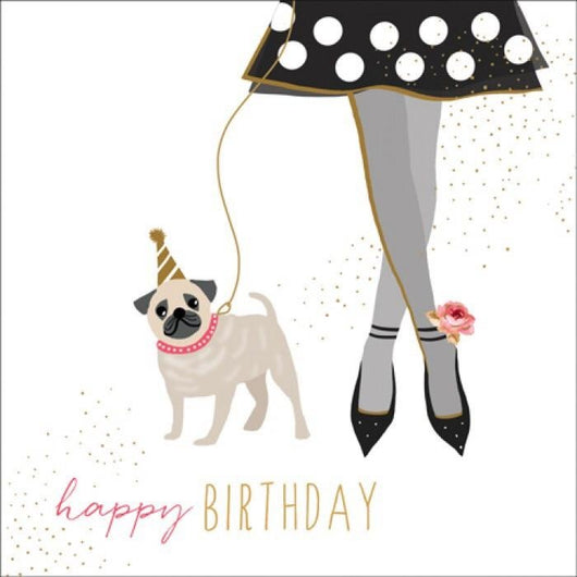 Jaz and baz pug birthday card