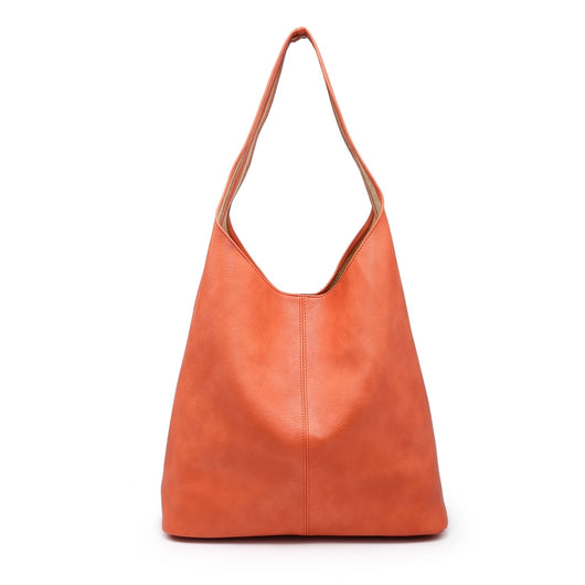 Large orange bucket bag