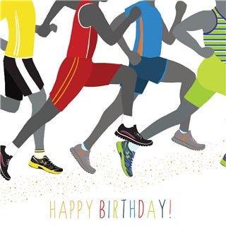 Runners male birthday carfd