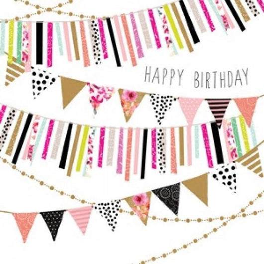 Jaz and baz birthday bunting card