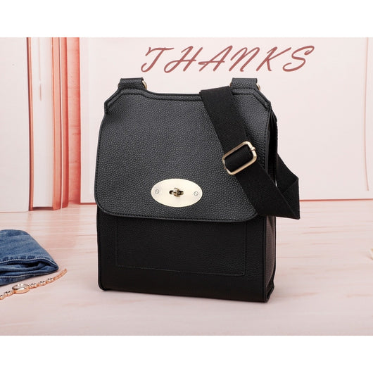 Black Mulberry Style Cross body Hand Bag