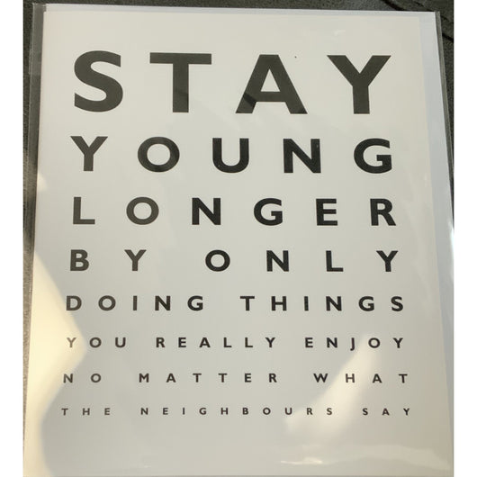 Eye Test Birthday Stay Younger