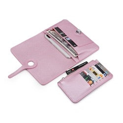 pink organiser clutch puse