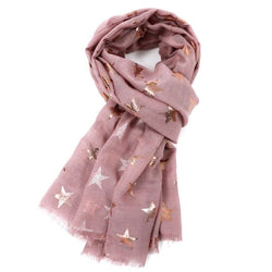 Blush Pink Antique Star Scarf