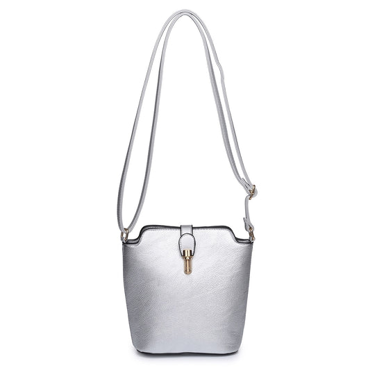 Silver Cross Body Hand Bag