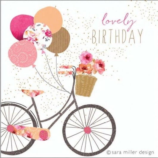 Jaz and baz bicycle birthday card