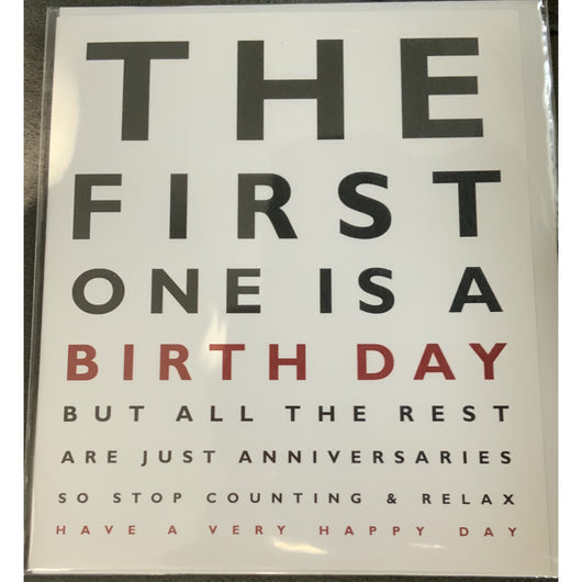 Birthday eye test birthday is an anniversary