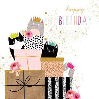 Cats presents birthday  By Jaz And Baz