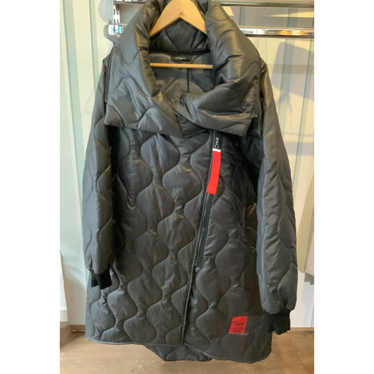 Grey studio quilted coat