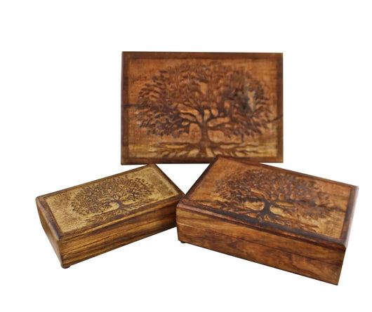 Large Carved tree Of Life Box