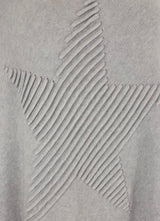 Grey 3D Star Poncho