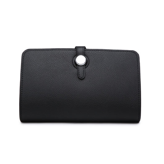 Black Purse With silver Button Detail