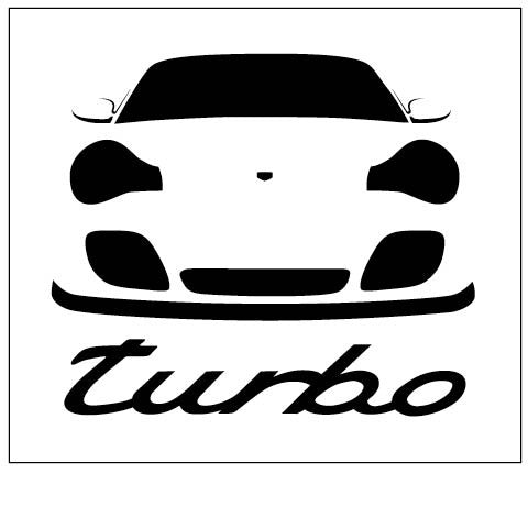 996 Turbo Vinyl Decal