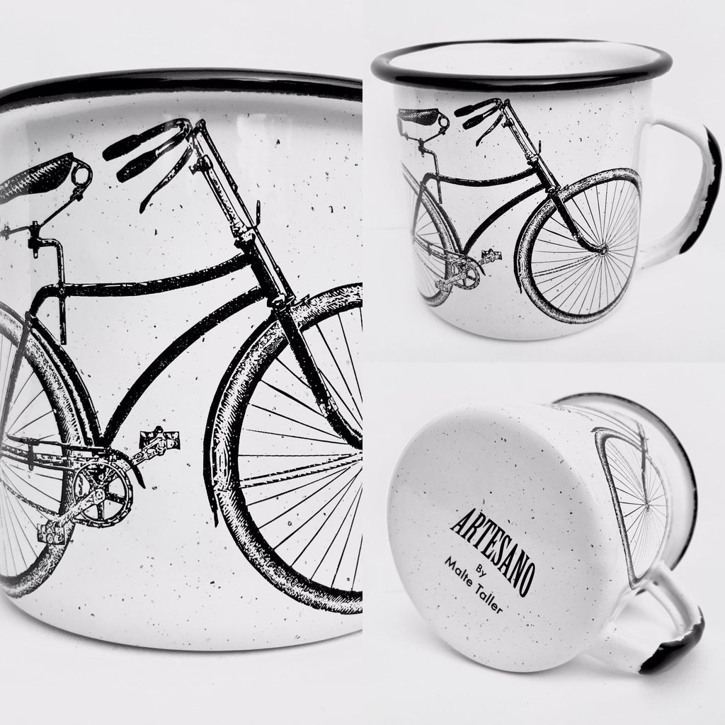 Bicycle Enamel Mug (in stock)
