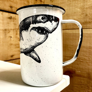 Large Shark Enamel Mug (in stock)