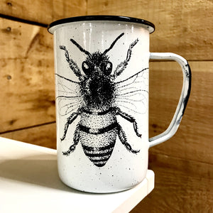 Large Bee Enamel Mug (in stock)