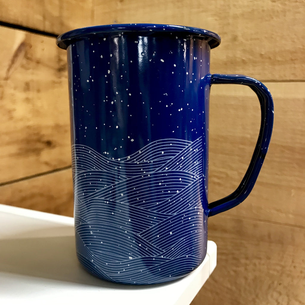 Large Blue Enamel Mug (in stock)