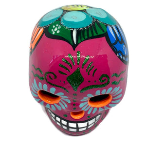 Small Hand-Painted Ceramic Calavera | Pink (in stock)